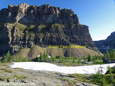 Boulder Pass Campground, Boulder Pass Trail, Glacier National Park