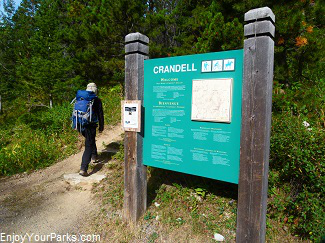 Akamina Parkway trailhead, Crandell Lake, Waterton Lakes National Park