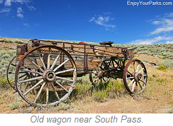 Wagon near South Pass Wyoming