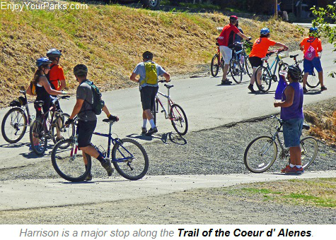 Trail of the Coeur d Alenes at Harrison Idaho