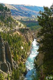 Calcite Springs Overlook, Yellowstone River, Tower / Roosevelt Area, Yellowstone National Park