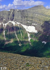 View of Lupfer Glacier from Dawson  Pass, Glacier National Park