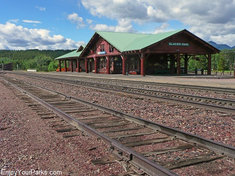 Amtrak Station, Glacier Park Lodge, East Glacier Montana, Glacier National Park