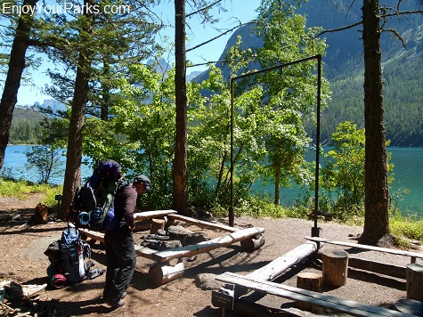 Kintla Lake Campground (Head), Boulder Pass Trail, Glacier National Park