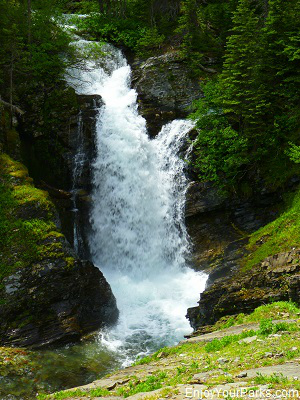 Unnamed waterfall along Rose Creek, Otokomi Lake Trail, Glacier National Park