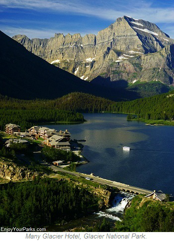 Many Glacier Hotel, Glacier Park Lodging, Glacier National Park