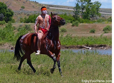Indian Warrior, Little Bighorn Battle Reenactment
