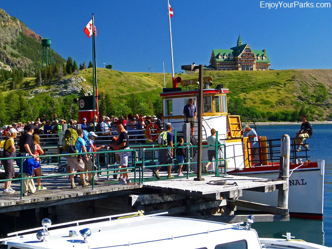 Waterton Lake Boat Tour, Waterton Park Townsite, Waterton Lakes National Park