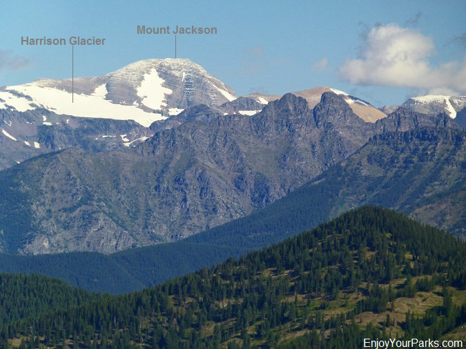 Mount Jackson with Harrison Glacier as viewed from Scalplock Lookout, Glacier National Park