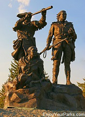Statue of Lewis, Clark and Sacajawea at Fort Benton, Montana