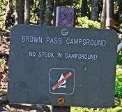 Brown Pass Campground, Glacier National Park