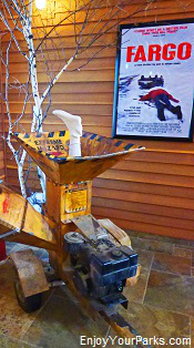 Wood chipper from the movie Fargo, Fargo Visitors Center