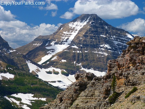 Mount Stimson, Dawson Pass Trail - Pitamakan Pass Trail Loop, Glacier National Park