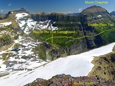 Boulder Peak Summit View, Hole In The Wall, Glacier National Park