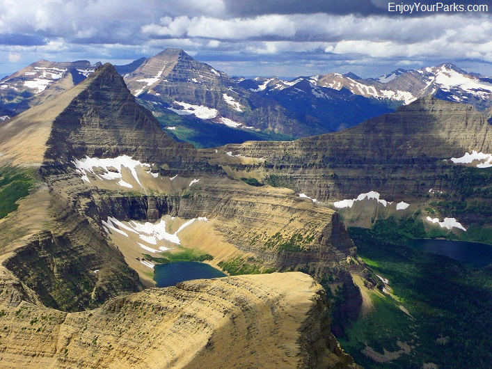 Rising Wolf Mountain summit view, Glacier National Park