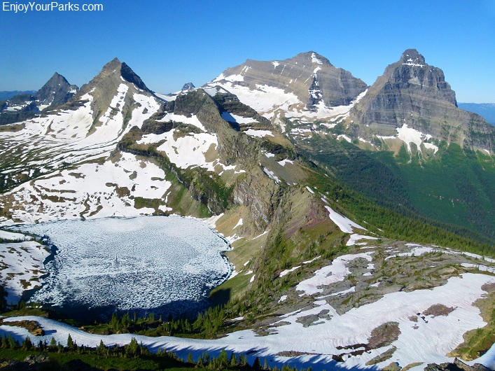 Boulder Peak summit view, Glacier National Park