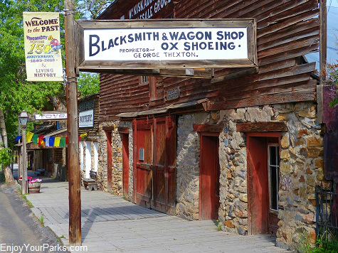 Blacksmith Shop, Virginia City Montana