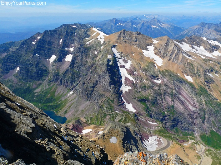 Mount Jackson summit view, Glacier Park