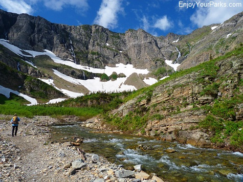 Swiftcurrent Headwall, Swiftcurrent Pass Trail, Glacier National Park