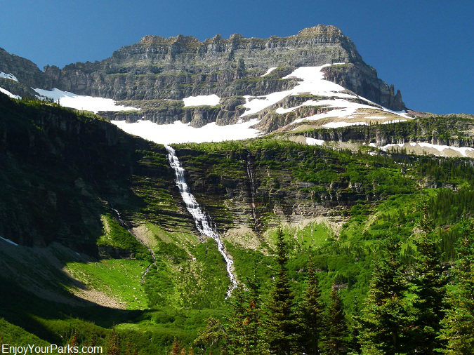 Thunderbird Mountain with Thunderbird Glacier, Glacier Park
