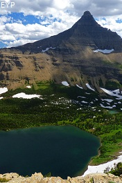 Old Man Lake, Dawson Pass Trail - Pitamakan Pass Trail Loop, Glacier National Park