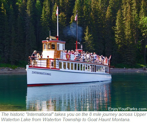Historic International, Waterton Lake Boat Tour to Goat Haunt Montana in Glacier National Park
