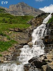 Haystack Falls,Going To The Sun Road, Glacier National Park