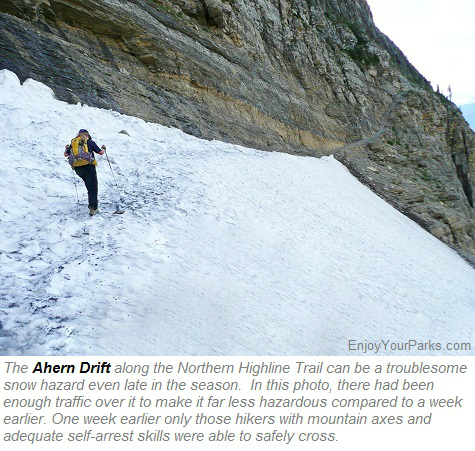 Ahern Drift, Northern Highline Trail, Glacier Park
