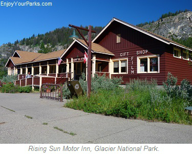 Rising Sun Motor Inn, Glacier Park Lodging, Glacier National Park