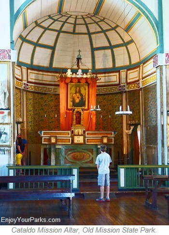 Cataldo Mission Altar, Old Mission State Park, Idaho