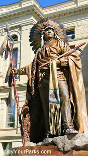 Chief Washakie Statue, Wyoming State Capital
