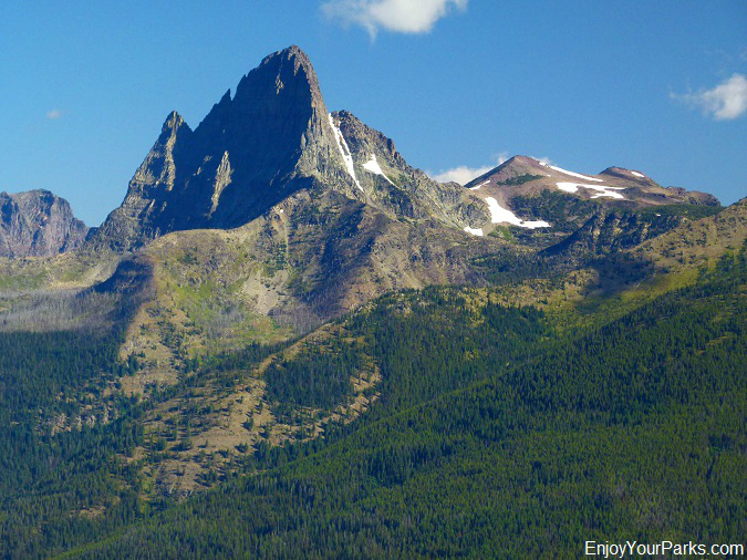 Mount Saint Nicholas as viewed from Scalplock Lookout, Glacier National Park