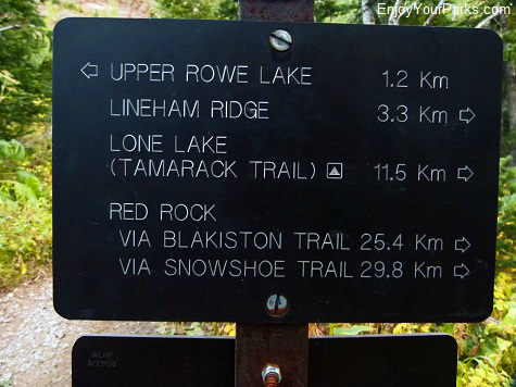 Tamarack Trail sign, Waterton Lakes National Park