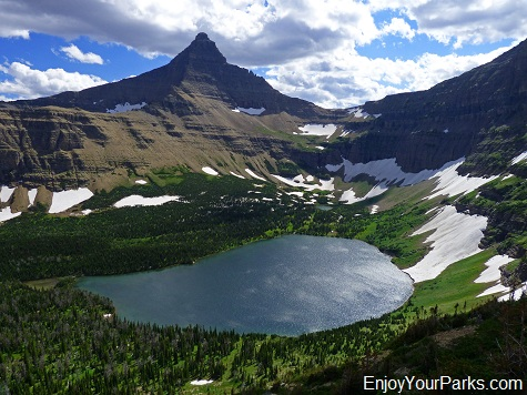 Old Man Lake and Flinsch Peak, Dawson Pass Trail - Pitamakan Pass Trail Loop, Glacier National Park