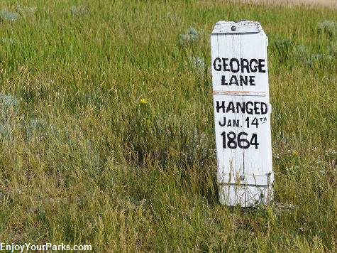 George Lane Tombstone on Boot Hill, Virginia City Montana