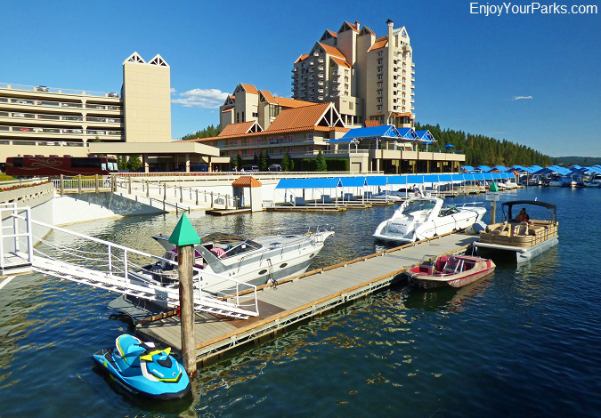 Marina on Lake Coeur d'Alene Idaho