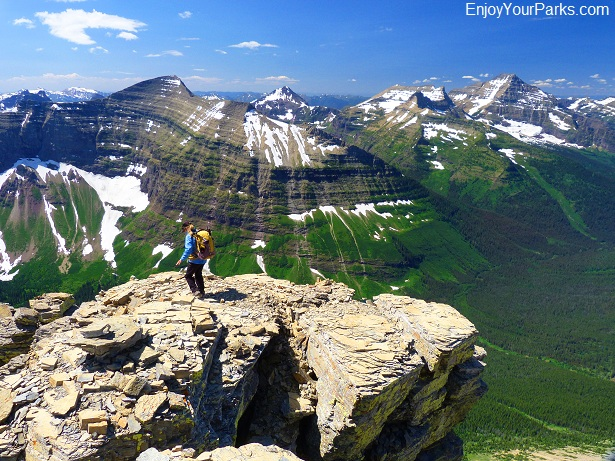 Flinsch Peak summit view, Glacier National Park.