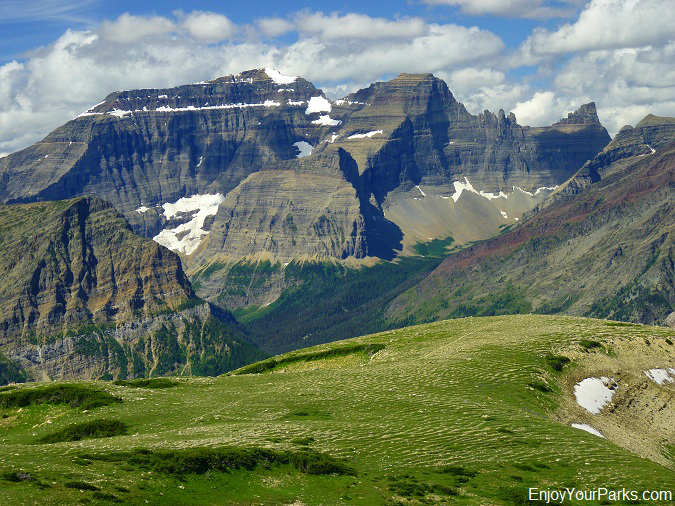 View of Mount Cleveland from Lee Ridge in Glacier National Park
