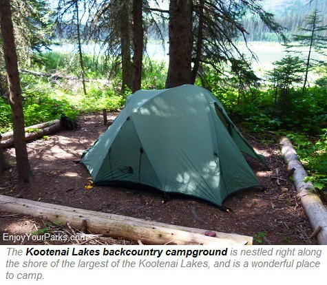 Kootenai Lakes backcountry campground, Glacier Park