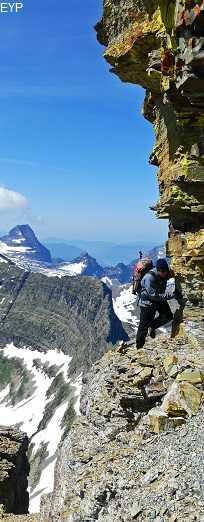 Climbing Reynolds Mountain in Glacier National Park