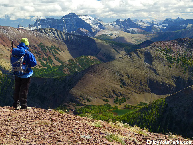 View from Lineham Ridge, Waterton Lakes National Park