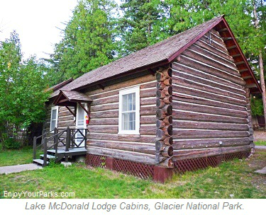 Lake McDonald Lodge Cabins, Glacier Park Lodging, Glacier National Park