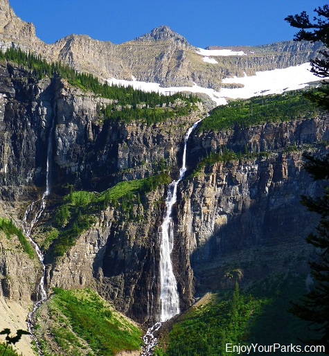 Hole In The Wall Waterfall, Hike to Brown Pass, Glacier National Park