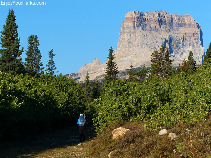 Slide Lake Trail with Chief Mountain, Glacier National Park