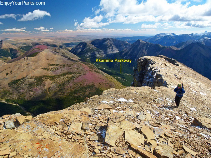 Mount Lineham summit, Waterton Lakes National Park