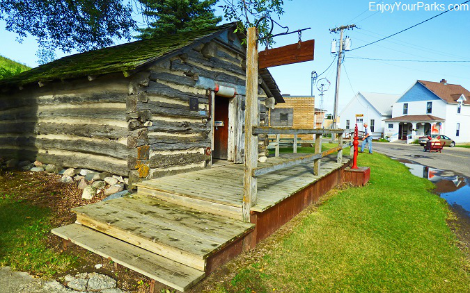 Pioneer cabin at Frontier Village in Jamestown North Dakota
