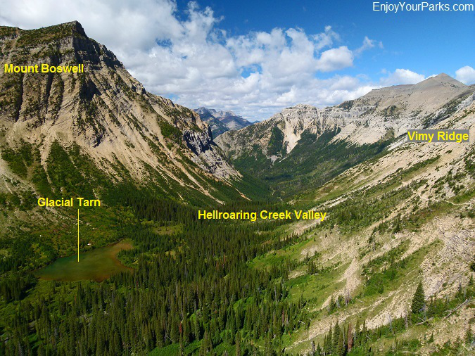 Hellroaring Creek Valley, Crypt Lake Trail, Waterton Lakes National Park