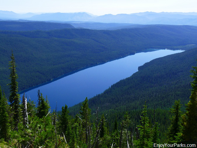 Bowman Lake as viewed from Numa Ridge Lookout, Glacier National Park