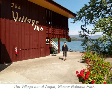The Village Inn at Apgar, Glacier Park Lodging, Glacier National Park