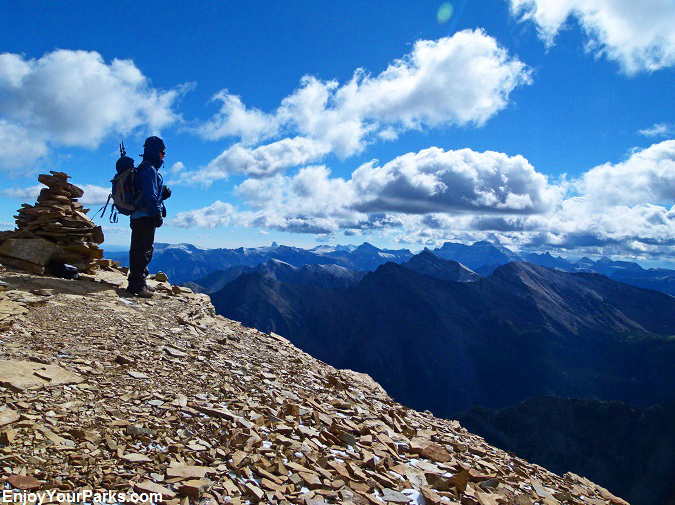 Summit of Mount Lineham, Waterton Lakes National Park